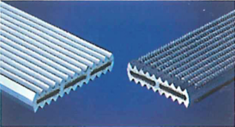 extruded aluminum core before and after machining